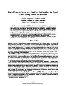 Real-Time Attitude and Position Estimation for Small UAVs - CiteSeerX