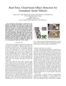 Real-Time, Cloud-based Object Detection for Unmanned Aerial Vehicles