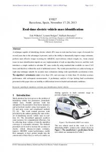 Real-time electric vehicle mass identification - MDPI