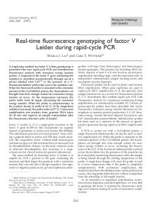 Real-time fluorescence genotyping of factor V Leiden ... - CiteSeerX