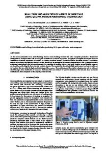 real time localization of assets in hospitals using ... - ISPRS Annals