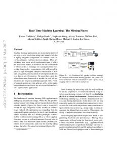Real-Time Machine Learning: The Missing Pieces