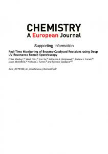 Real-Time Monitoring of Enzyme-Catalysed Reactions using Deep UV