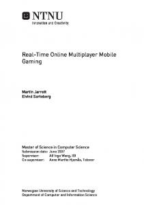 Real-Time Online Multiplayer Mobile Gaming