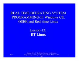 REAL TIME OPERATING SYSTEM PROGRAMMING-II: Windows CE ...