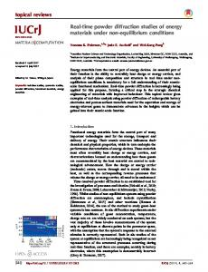 Real-time powder diffraction studies of energy ... - IUCr Journals