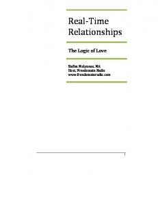 Real-Time Relationships: The Logic of Love - Freedomain Radio