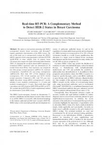 Real-time RT-PCR: A Complementary Method to ... - Semantic Scholar