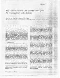 Real-Time Systems Design Methodologies - Computer Systems ...