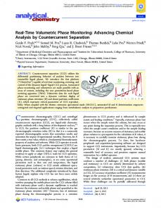 Real-Time Volumetric Phase Monitoring - ACS Publications