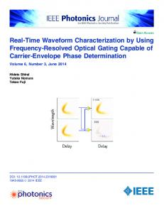 Real-Time Waveform Characterization by Using ... - IEEE Xplore