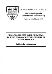 REAL WAGES AND SKILL PREMIUMS DURING ECONOMIC ...