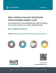 Real-world exhaust emissions from modern diesel cars: A meta ...