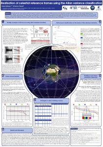 Realisation of celestial reference frames using the ...