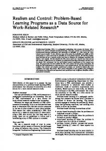 Realism and Control: Problem-Based Learning Programs ... - CiteSeerX