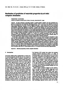 Realization of prediction of materials properties by ab initio computer