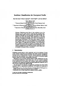 Realtime Classification for Encrypted Traffic