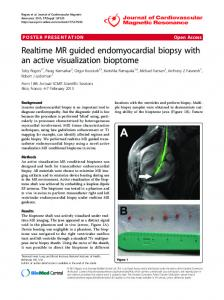 Realtime MR guided endomyocardial biopsy with an ... - Springer Link