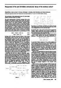 Reappraisal of the spin-forbidden unimolecular decay of the methoxy ...