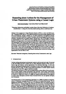 Reasoning about Actions for the Management of