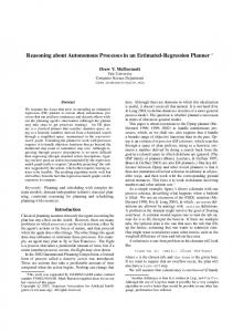 Reasoning about Autonomous Processes in an ... - Computer Science