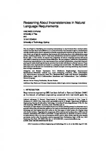 Reasoning About Inconsistencies in Natural Language ... - CiteSeerX