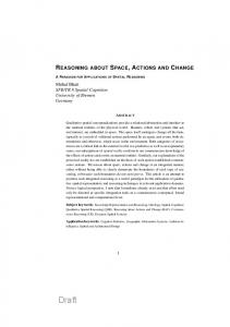 Reasoning about Space, Actions and Change