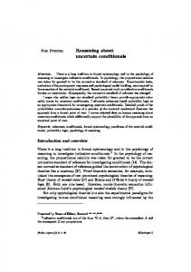 Reasoning about uncertain conditionals - PhilArchive