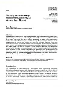Reassembling security at Amsterdam Airport - SAGE Journals