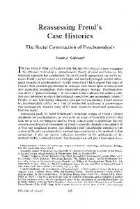 Reassessing Freud's Case Histories - Sulloway, Frank