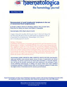 Reassessment of small lymphocytic lymphoma in the era ... - CiteSeerX