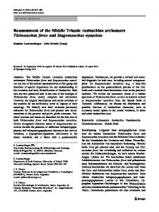 Reassessment of the Middle Triassic rauisuchian archosaurs ...