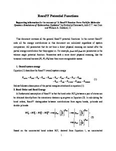 ReaxFF Potential Functions - Caltech Authors