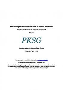 Rebalancing the Euro area - Post-Keynesian Economics Study Group