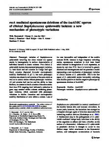 recA mediated spontaneous deletions of the ... - BioMedSearch