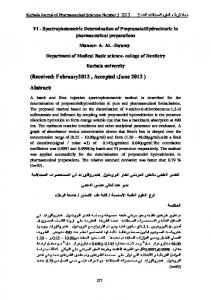 (Received: February2012 , Accepted :June 2012 ) Abstract: