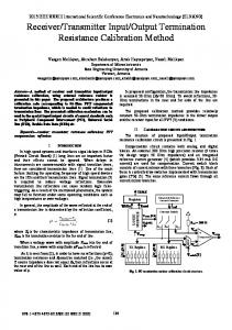 Receiver/Transmitter Input/Output Termination ... - IEEE Xplore