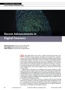 Recent Advancements in Digital Forensics - IEEE Computer Society
