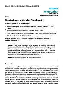 Recent Advances in Microflow Photochemistry - Semantic Scholar
