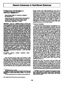 Recent Advances in Nutritional Sciences - American Society for Nutrition