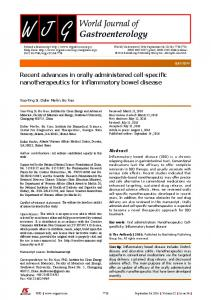 Recent advances in orally administered cell ... - Semantic Scholar