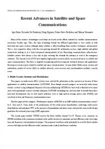 Recent Advances in Satellite and Space Communications - IEEE Xplore