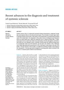 Recent advances in the diagnosis and treatment of systemic sclerosis