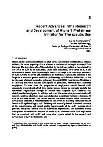 Recent Advances in the Research and Development