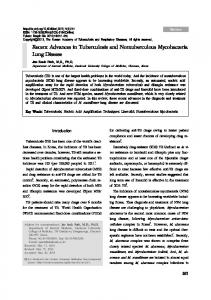 Recent Advances in Tuberculosis and ... - Semantic Scholar