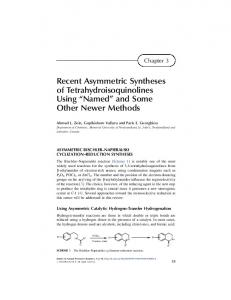 Recent Asymmetric Syntheses of ...