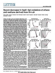 Recent decreases in fossil-fuel emissions of ethane and methane ...
