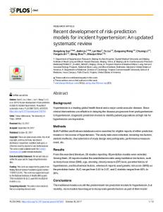 Recent development of risk-prediction models for ... - Semantic Scholar