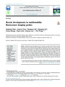 Recent developments in multimodality fluorescence imaging probes