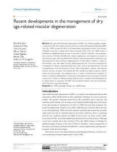 Recent developments in the management of dry ... - Semantic Scholar